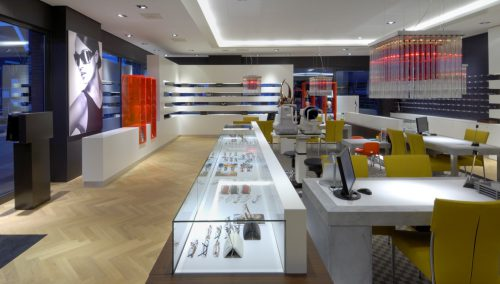 Agencement de magasin – Optique Zonneveld
