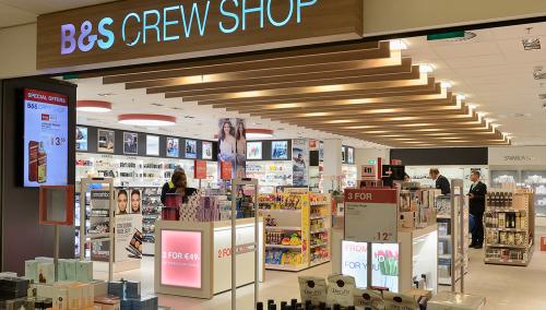 B&S Crewshop aéroport Schiphol – Aménagement intérieur