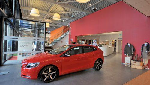 Concept design salle d'exposition Volvo
