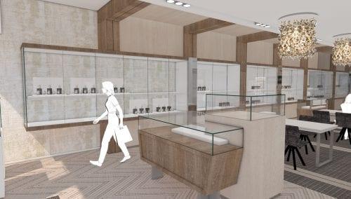 Conception en 3D pour intérieurs de bureau modernes