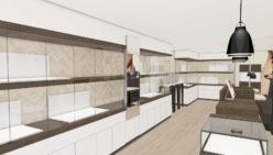 Boutique d'ajustage bijouterie – Joaillier Betzler par WSB Concept de Magasin.