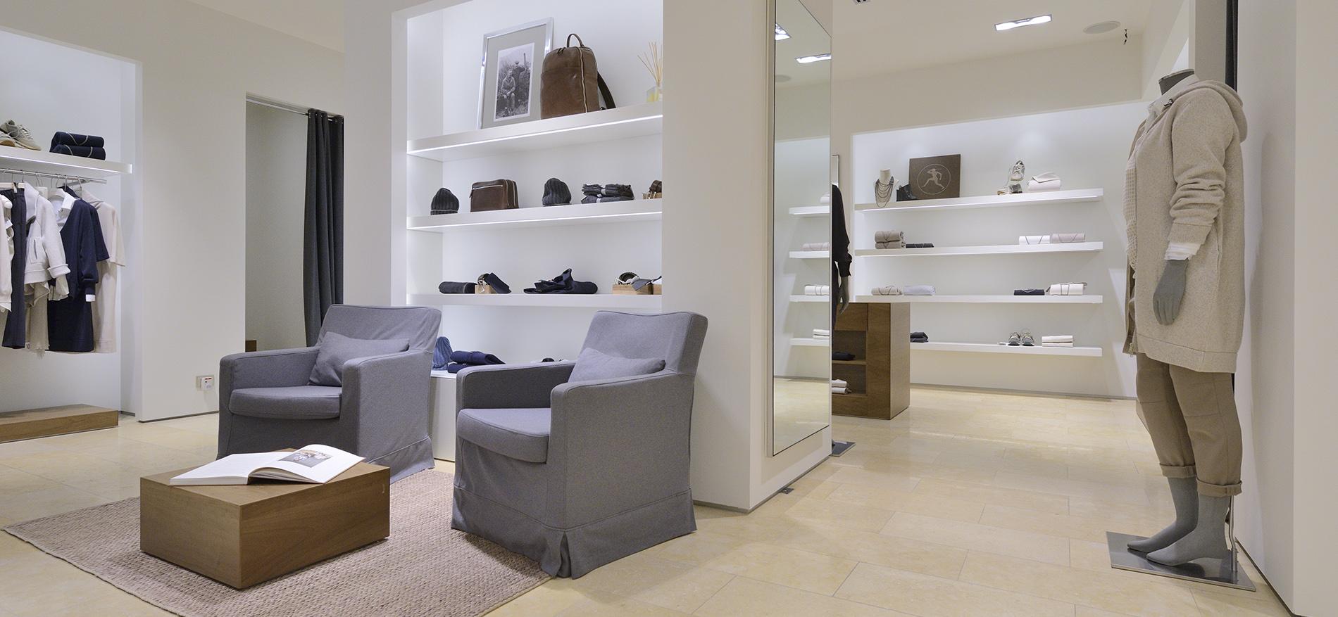 Agencement intérieur pour la boutique de mode