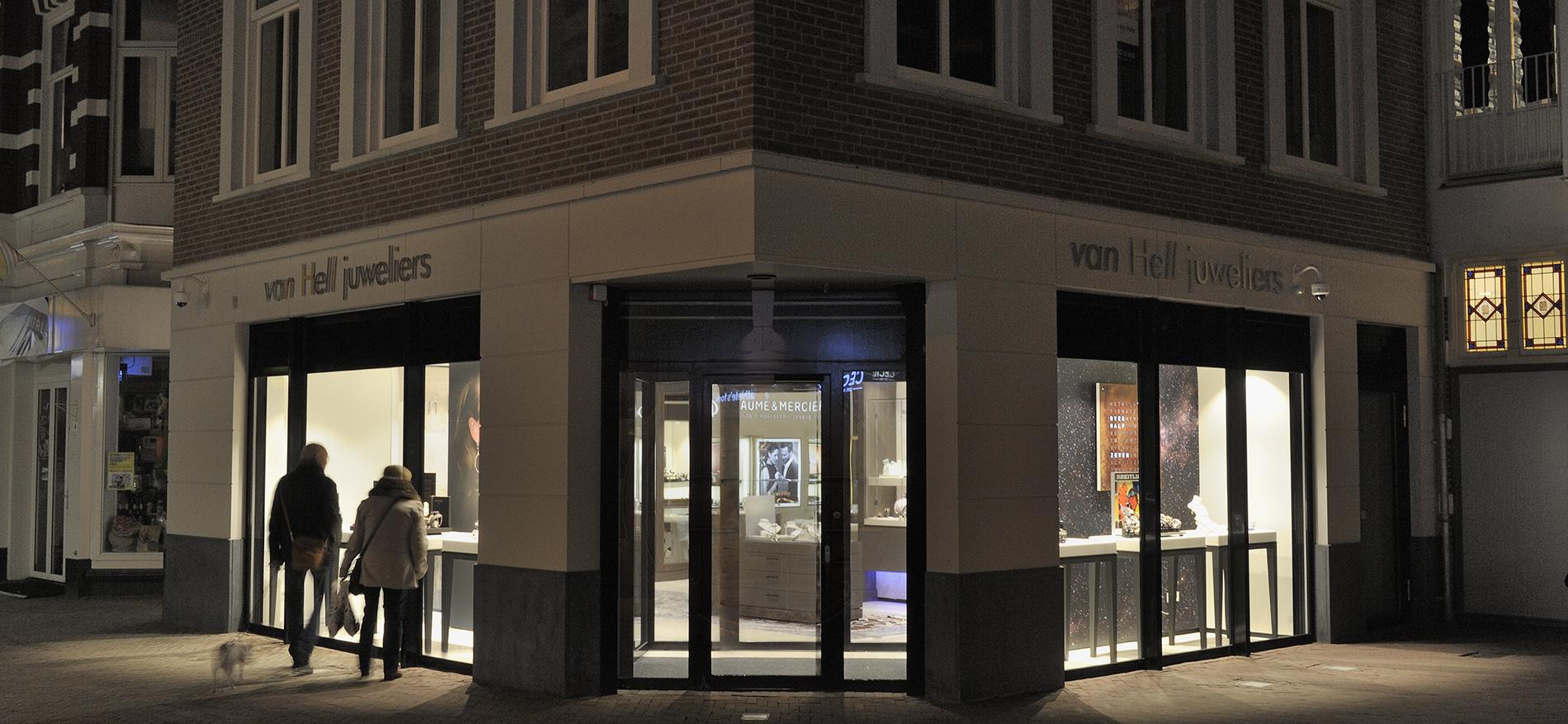 Winkelinrichting Juweliers van Hell door WSB