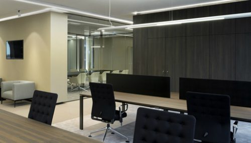 Conception en d pour intérieurs de bureau modernes